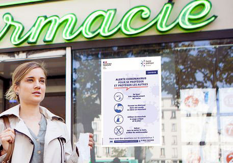 Affiche de prevention contre le Covid-19